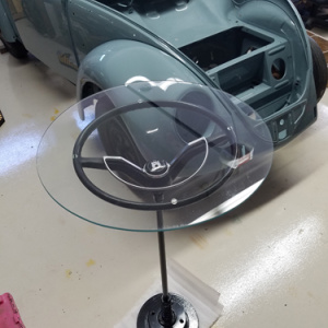 Circular Glass Table